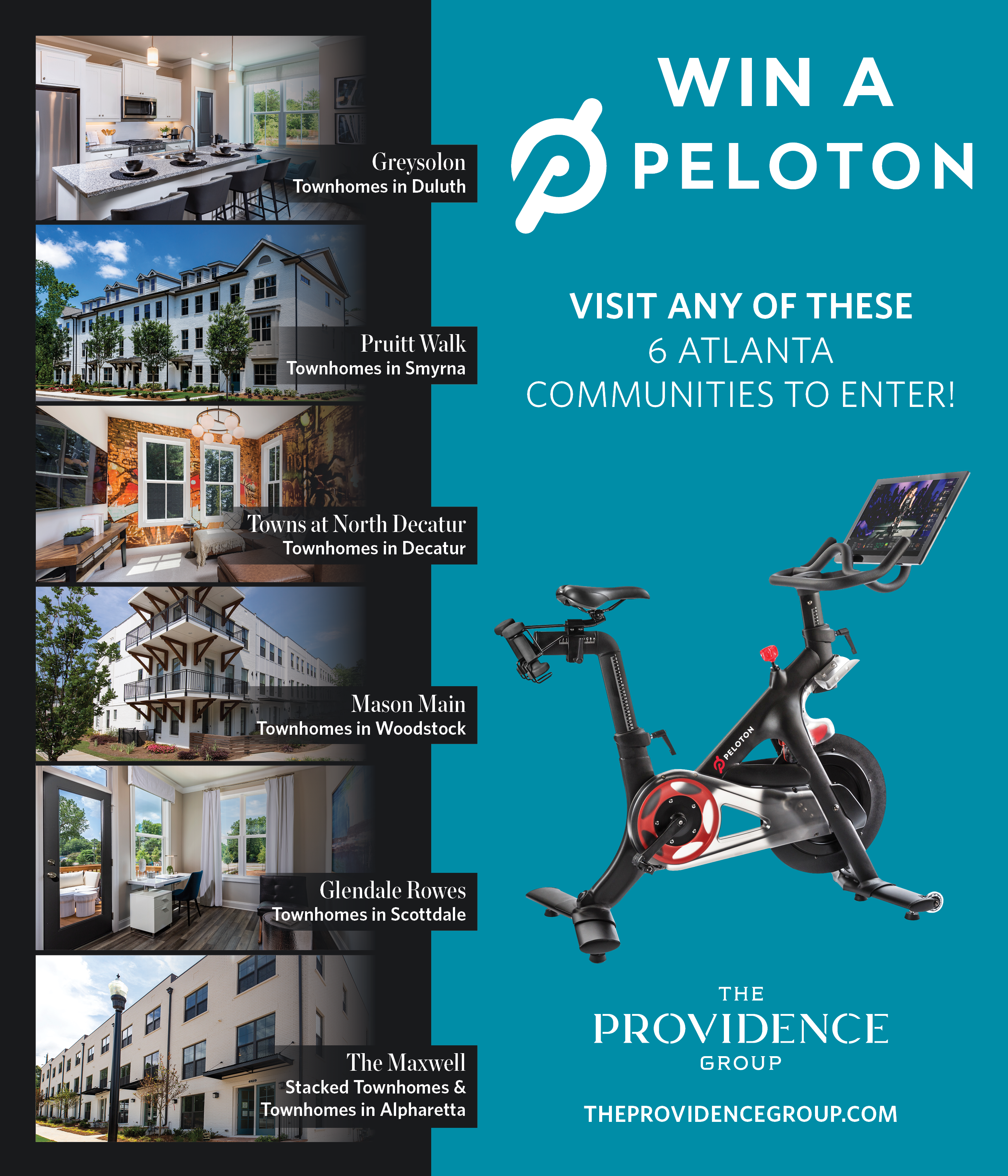 Providence Group Announces Peloton Giveaway at Select Communities
