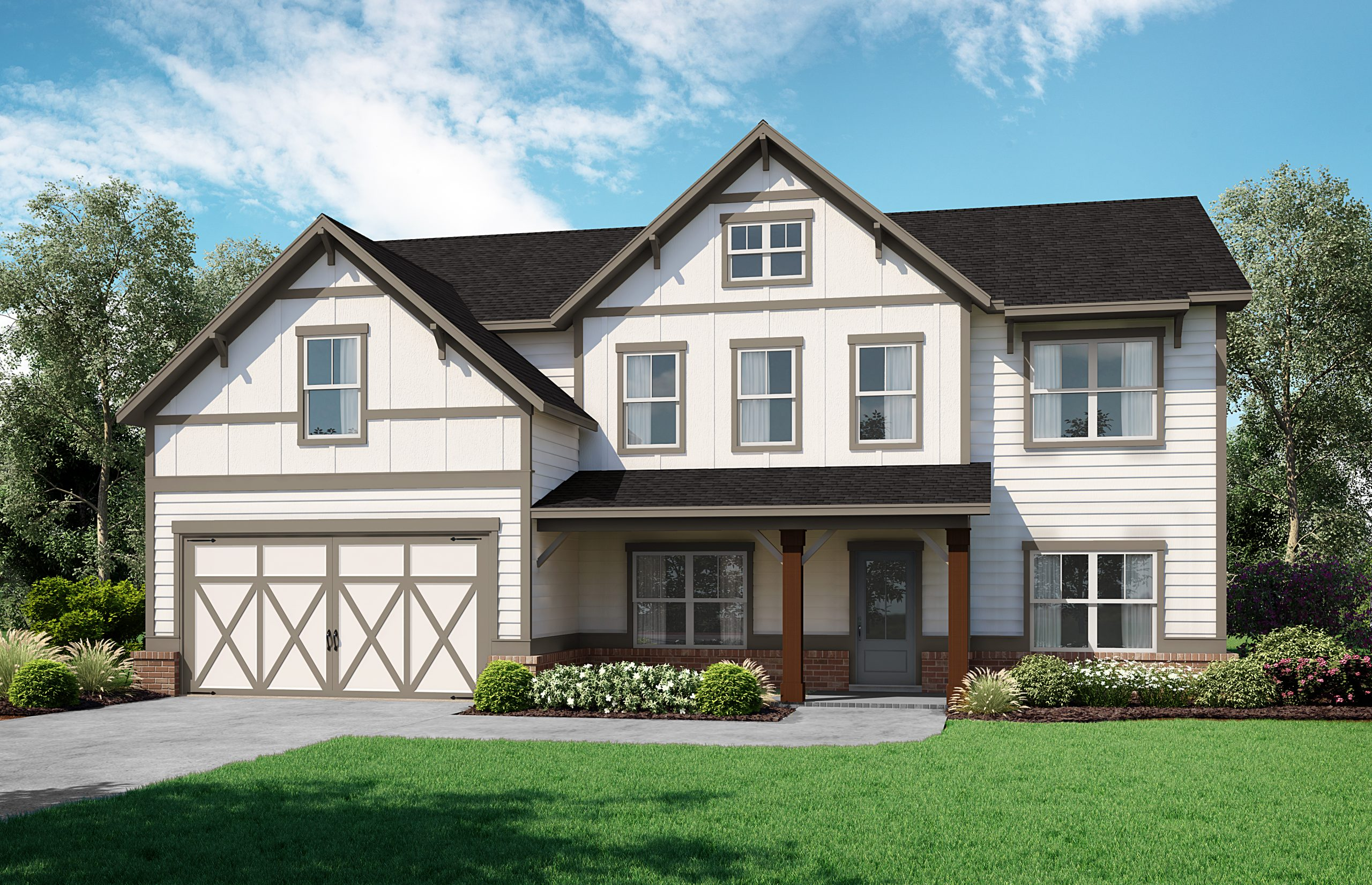 SR Rosewood front rendering at Chimney Creek in Cumming