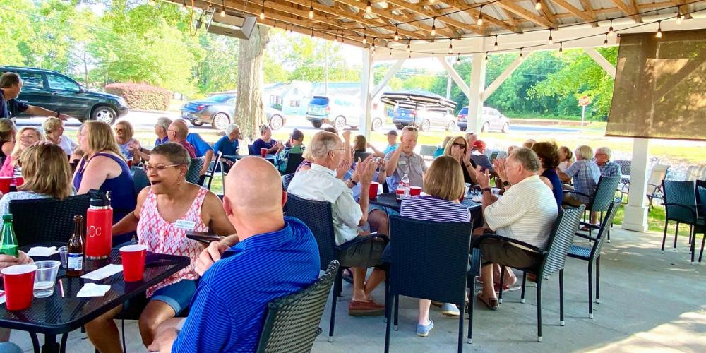 Cresswind Georgia at Twin Lakes Residents Enjoying Community Activities - Outdoor Trivia