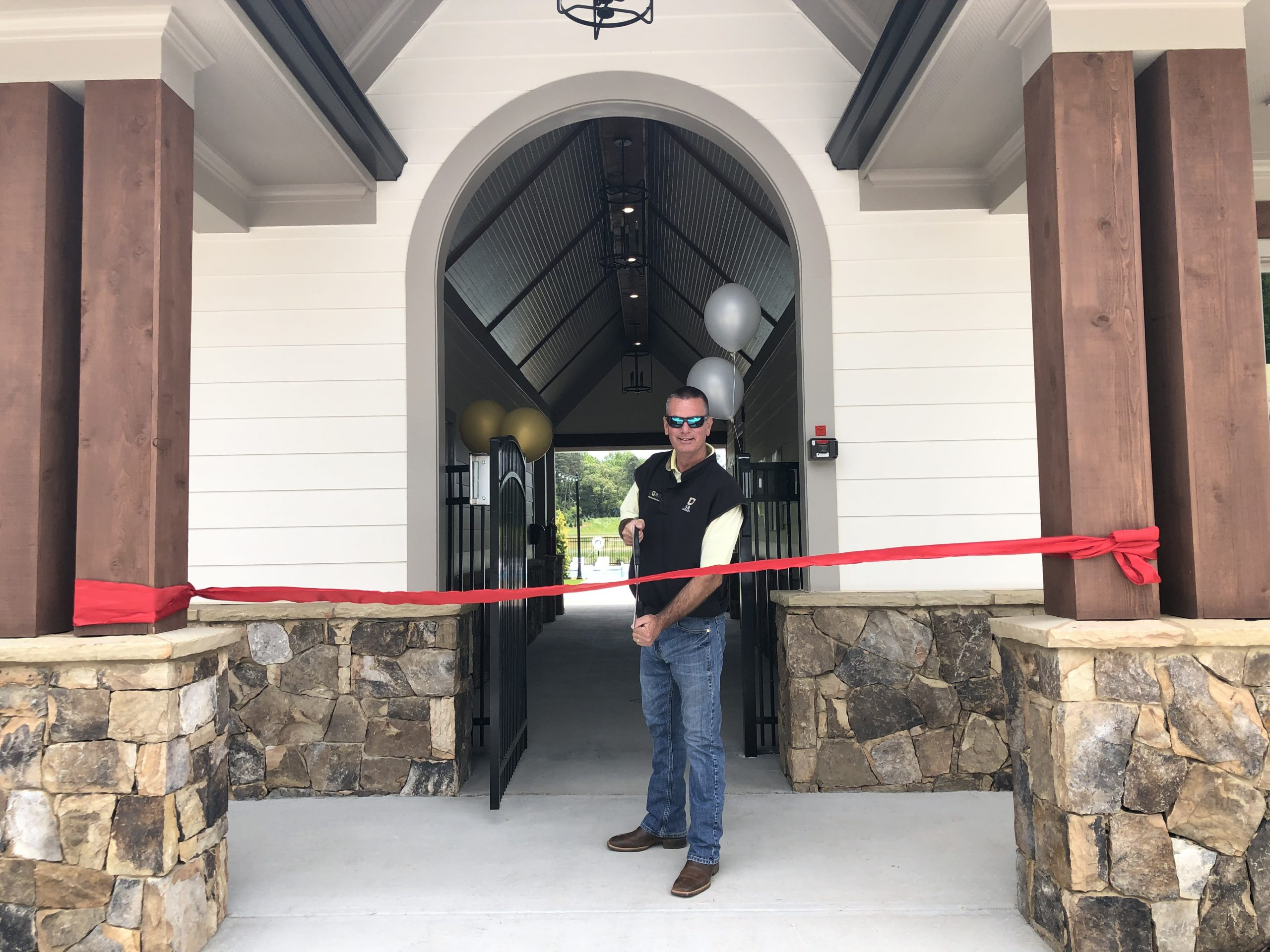 ribbon cutting of clubhouse at Montebello in Cumming